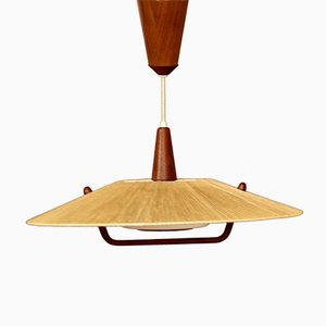 Teak Ceiling Lamp from Temde, 1960s