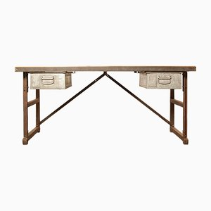 Industrial Desk or Worktable, 1950s