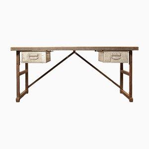 Industrieller Schreibtisch oder Werkbank, 1950er