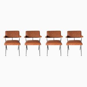 Modell HB 030 Esszimmerstühle von Herman D. Bakker für Artifort, 1964, 4er Set
