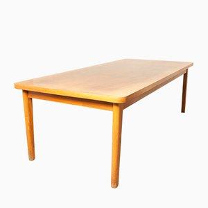 Mesa de comedor de madera nudosa de nogal, años 70