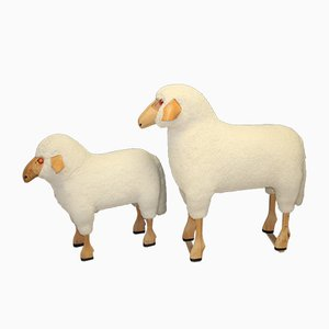 Vintage Sheep Ottomans by Hans-Peter Krafft for Meier, 1980s, Set of 2