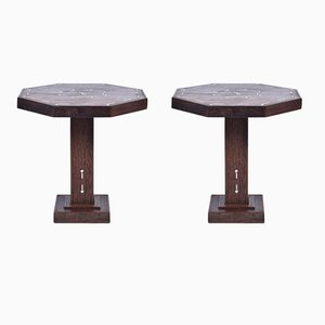 Art Deco Partridge Wood Side Tables, 1930s, Set of 2
