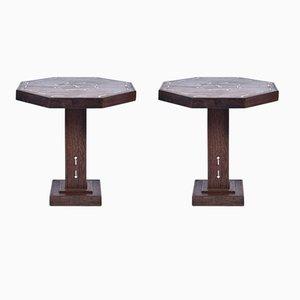 Art Deco Partridge Wood Side Tables, 1930s, Set of 2