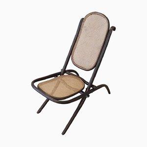 Chaise Pliante Antique avec Assise en Paille Viennoise