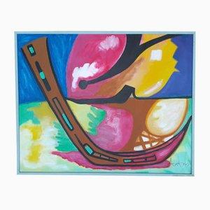 Pintura Alvorada nº 9 de Ange Falchi, años 50