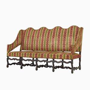Antikes französisches Os de Mouton Sofa mit Gestell aus Nussholz
