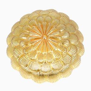 Plafón 70205 alemán de vidrio color miel de Massive, años 70