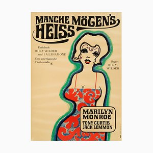 German Marilyn Monroe 'Some Like It Hot' Film Poster by Heinz Ebel, 1968