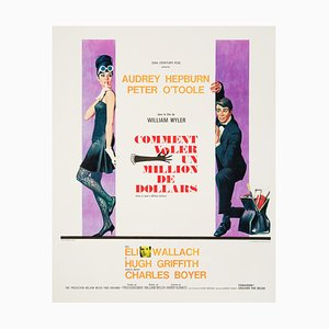 French Audrey Hepburn 'How To Steal A Million' Film Poster by Robert McGinnis, 1966