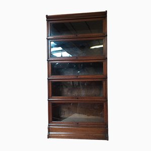 Antique Glass Bookcase by Otto Wernicke for Globe Wernicke