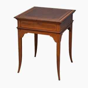 Edwardianischer Schreibtisch aus Mahagoni von Maple & Co