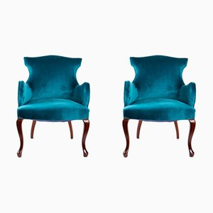 English Armchairs, 1920s, Set of 2