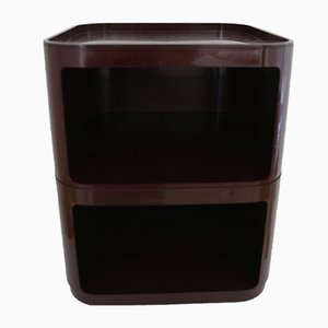 Brown Modular Trolley Nightstand by Anna Castelli Ferrieri for Kartell, 1970s