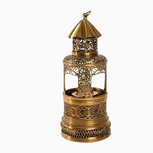 Antike laternenförmige chinesische Opiumlampe