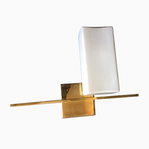 Mid-Century French Square Wall Sconce, 1950s
