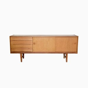 Vintage Danish Oak Sideboard by Arne Vodder, 1950s