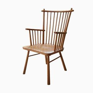 Mid-Century Danish Stick-Back Armchair, 1950s