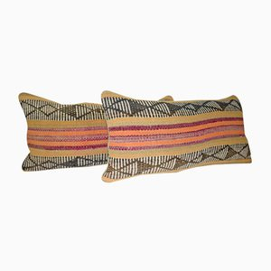 Housses de Coussin Lumbar Kilim de Vintage Pillow Store Contemporary, Set de 2