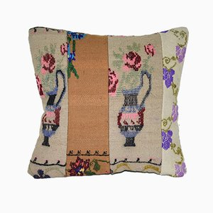 Square Patchwork Kilim Throw Pillow Cover from Vintage Pillow Store Contemporary