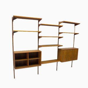 Teak Shelving Unit with Secretaire by Kai Kristiansen for FM Møbler, 1960s