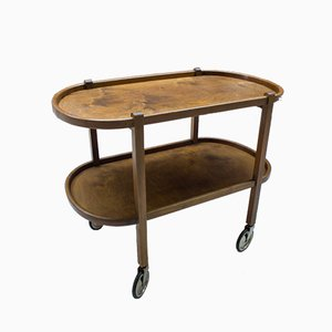 Art Deco Austrian Wooden Trolley, 1930s