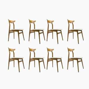 Scandinavian Wooden Dining Chairs, 1960s, Set of 8