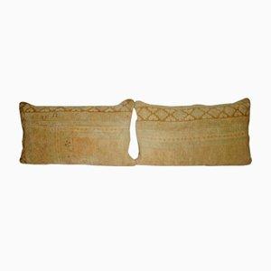 Fundas de almohada Oushak de pelo liviano bañado en tejido a mano de Vintage Pillow Store Contemporary. Juego de 2