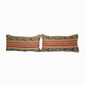 Türkische Kelim Kissenbezüge aus organischer Wolle von Vintage Pillow Store Contemporary, 2er Set