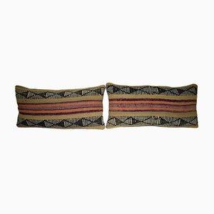 Anatolischer Kissenbezug aus einem Wollteppich von Vintage Pillow Store Contemporary