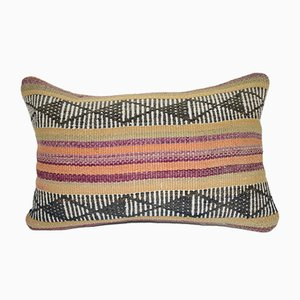 Cottage Decor Kilim Lumbar Outdoor Pillow Cover from Vintage Pillow Store Contemporary