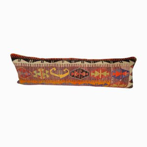 Bohemian Geometrical Pattern Kilim Lumbar Pillow Cover from Vintage Pillow Store Contemporary
