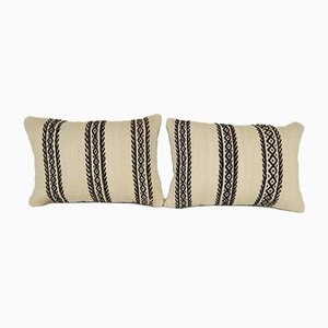 Turkish Lumbar Pillow Covers from Vintage Pillow Store Contemporary, Set of 2