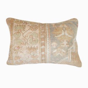 Distressed Turkish Oushak Rug Pillow Cover from Vintage Pillow Store Contemporary