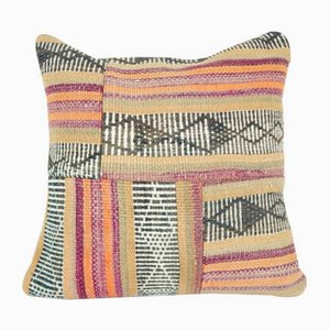 Großer türkischer Patchwork Kelim Kissenbezug von Vintage Pillow Store Contemporary