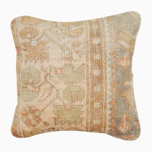 Handwoven Low Pile Soft Color Oushak Rug Pillow Cover from Vintage Pillow Store Contemporary
