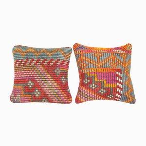 Quadratische Jajim Kelim Kissenbezüge von Vintage Pillow Store Contemporary, 2er Set