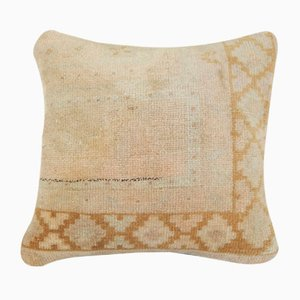 Vintage Faded Oushak Rug Pillow Cover from Vintage Pillow Store Contemporary
