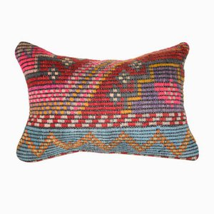 Funda de cojín de Oriente Medio de kilim hecho a mano de Vintage Pillow Store Contemporary