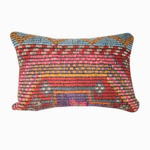 Funda de cojín lumbar turca de lana de Vintage Pillow Store Contemporary