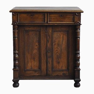 Mobiletto antico rustico in quercia