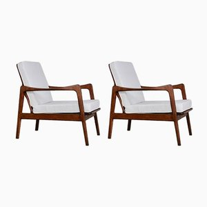 Scandinavian Lounge Chairs, 1970s, Set of 2