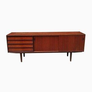 Danish Modern Teak Linear Sideboard, 1960s