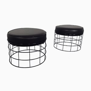 T1 Plus Wireframe Stools by Verner Panton for Plus-Linje, 1950s, Set of 2