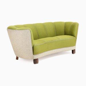 Grünes geschwungenes Sofa, 1930er