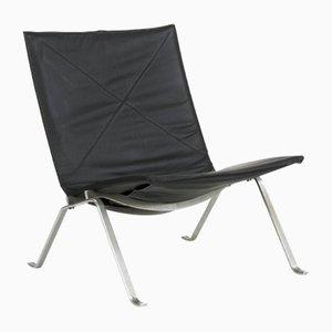 Chaise d'Appoint PK22 Noire par Poul Kjærholm pour E. Kold Christensen, 1950s