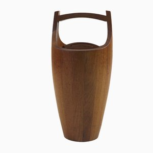 Large Teak Ice Bucket by Jens Quistgaard for Dansk Design, 1960s