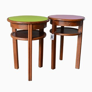 Mid-Century Small Bistro Tables, 1950s, Set of 2