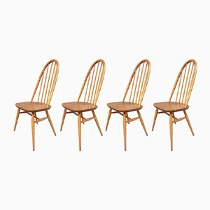 Mid-Century Elm Quaker Dining Chairs from Ercol, 1960s, Set of 4