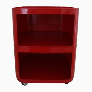 Red Modular Trolley Nightstand by Anna Castelli Ferrieri for Samoes, 1960s